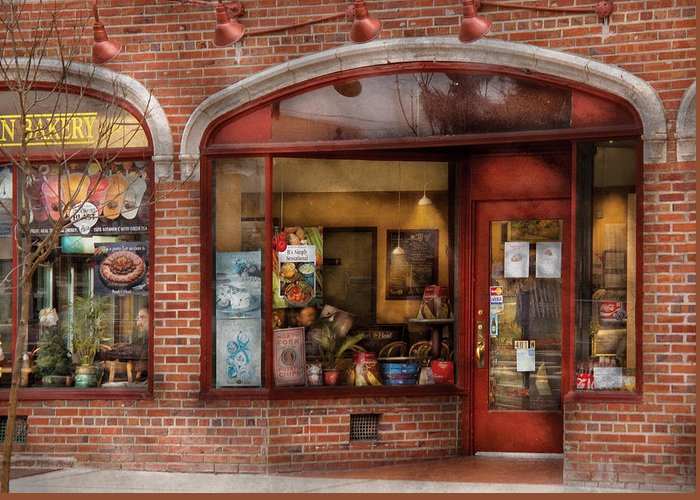 Cafe Greeting Card featuring the photograph Cafe - Westfield Nj - Tutti Baci Cafe by Mike Savad