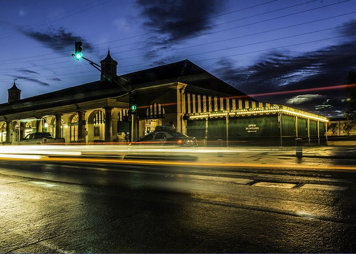 Cafe Du Monde Greeting Card featuring the photograph Cafe Du Monde, New Orleans, Louisiana by Chris Coffee