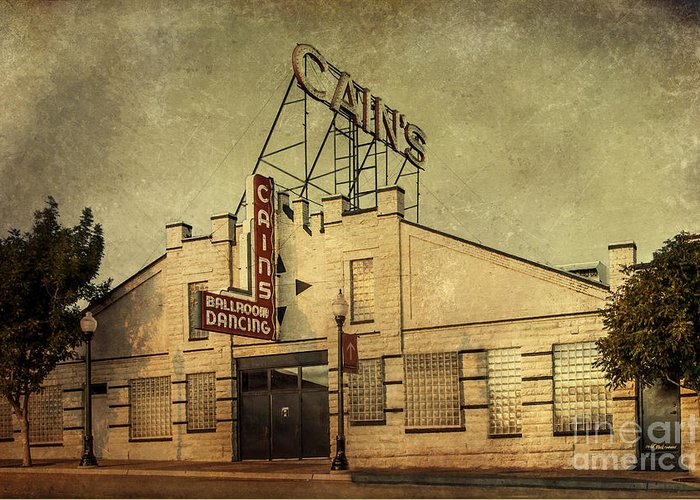 Tulsa Greeting Card featuring the photograph Cain's Ballroom by Tamyra Ayles