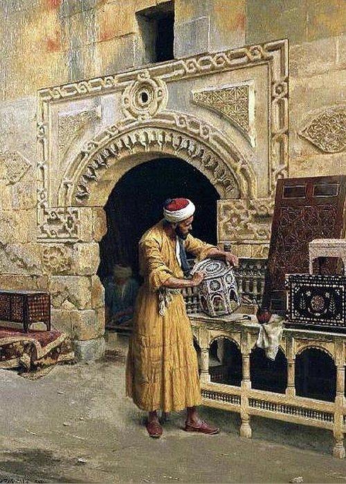 Cairo 1900 Greeting Card featuring the digital art Cairo by Mark Carlson