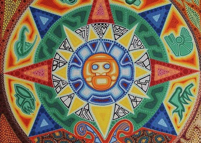 Calendario Azteca.Calendario Azteca Greeting Card