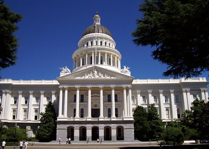California Greeting Card featuring the photograph California Capitol by Tracy Dugas