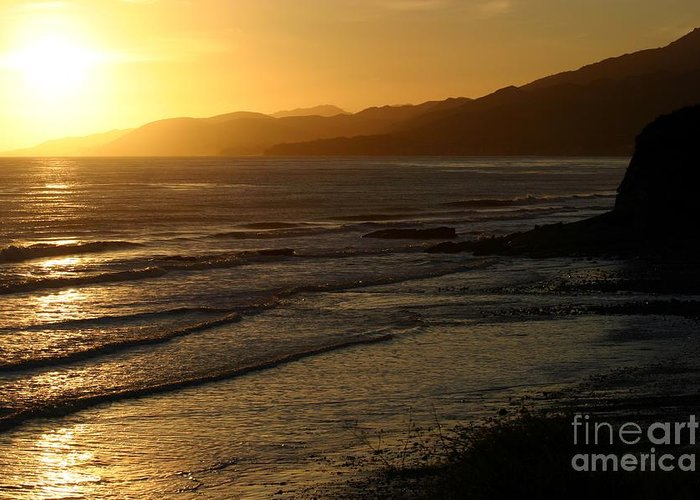 California Sunset Greeting Card featuring the photograph California Coast Sunset by Balanced Art