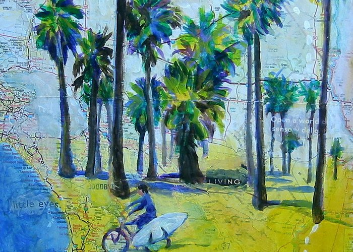 California Greeting Card featuring the painting California Dreaming by Tilly Strauss
