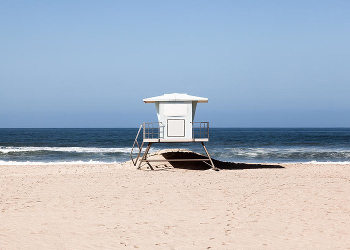 America Greeting Card featuring the photograph California Lifeguard Tower Photo by Paul Velgos
