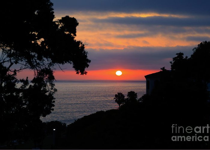Sunset Greeting Card featuring the photograph California Mediterranean by E Williams