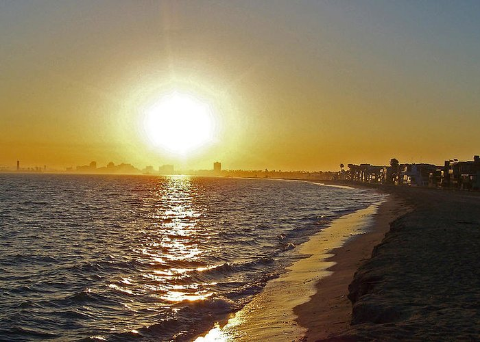 Beaches Greeting Card featuring the photograph California Sunset by Ernie Echols