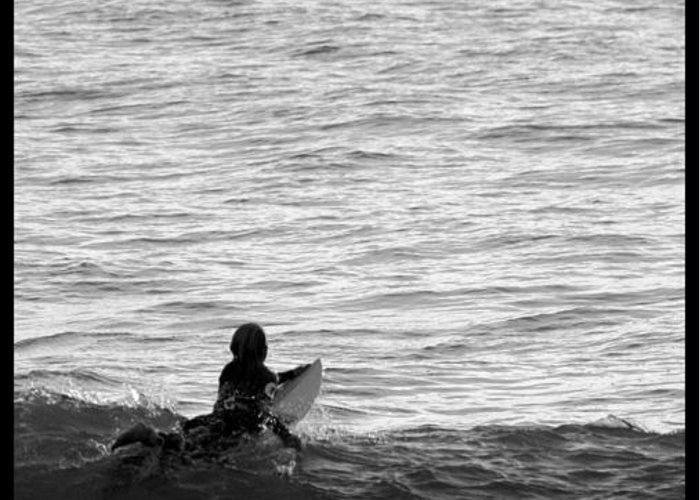 San Clemente Pier Greeting Card featuring the photograph California Surfing by Brad Scott