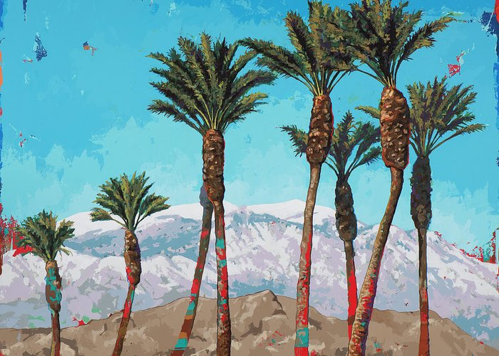 California Greeting Card featuring the painting California Winter by David Palmer