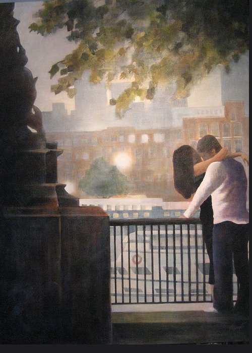 Lovers Greeting Card featuring the painting Call Me by Victoria Heryet