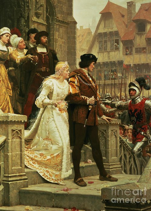Call Greeting Card featuring the painting Call To Arms by Edmund Blair Leighton