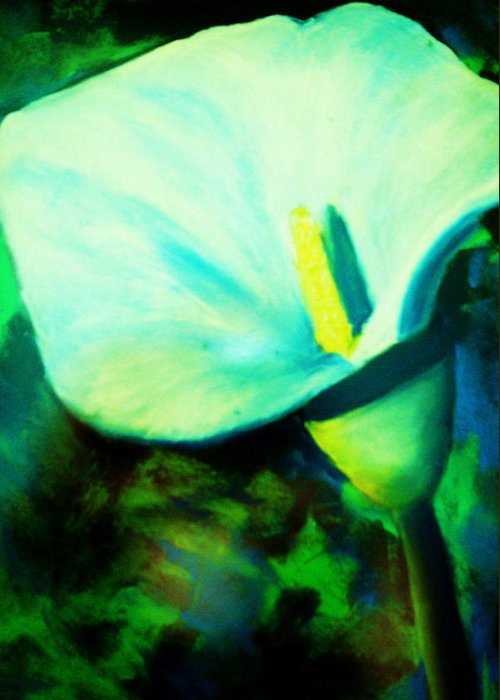 White Calla Lily Greeting Card featuring the painting Calla Lily by Melinda Etzold
