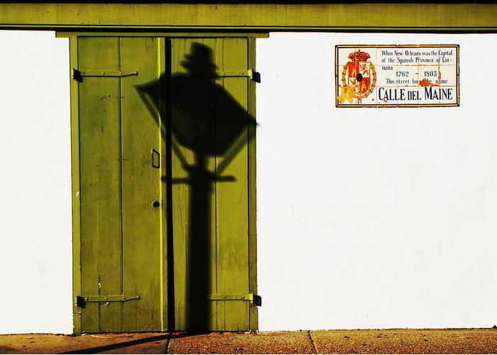Madame Johns Legacy Greeting Card featuring the photograph Calle Del Maine by David Fields