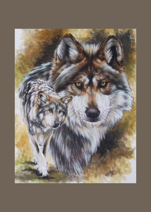 Wildlife Greeting Card featuring the mixed media Callidity by Barbara Keith