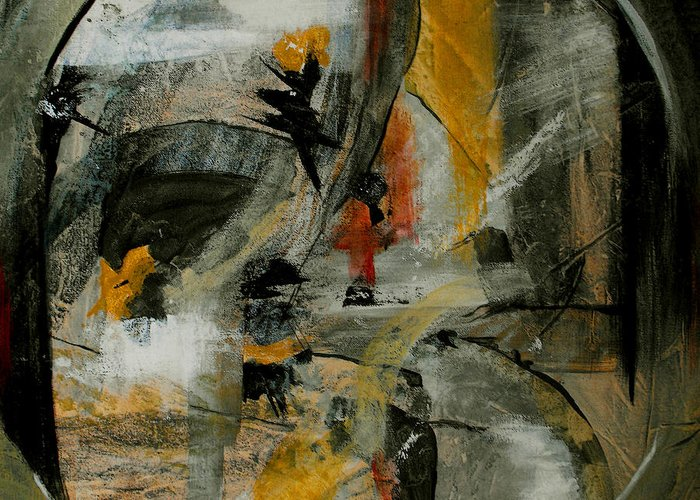 Abstract Greeting Card featuring the painting Calm Out Of Chaos by Ruth Palmer