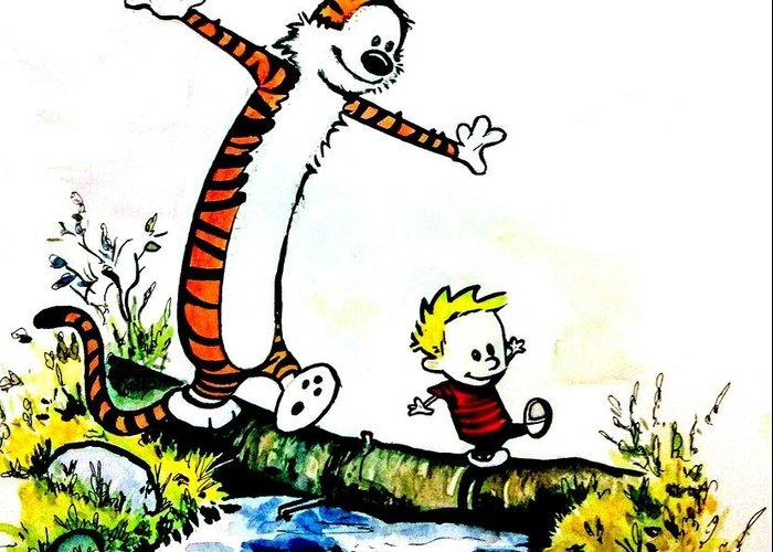 Calvin And Hobbes Greeting Cards | Fine Art America