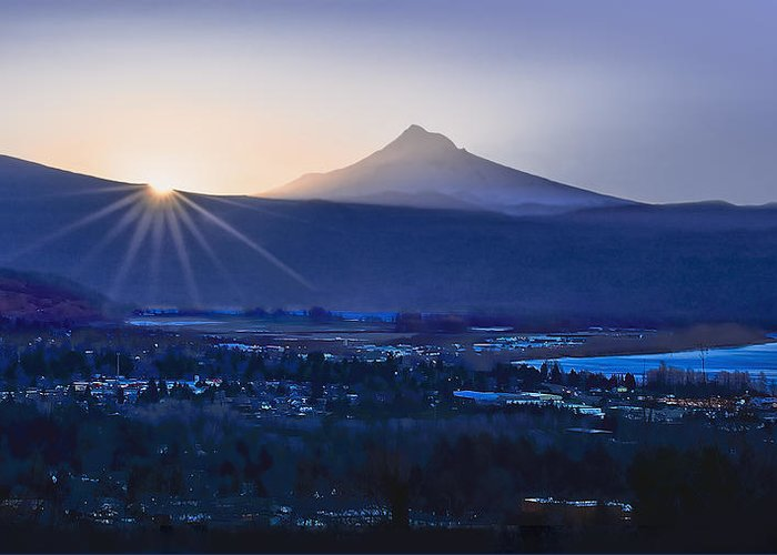 Sunrise Greeting Card featuring the photograph Camas Sunrise by John Christopher