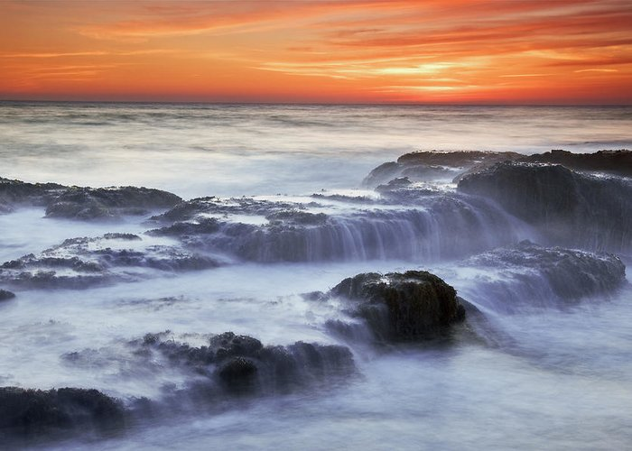 Cambria Greeting Card featuring the photograph Cambria Coast Sunset by Nolan Nitschke
