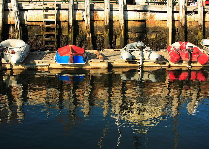Saescape Greeting Card featuring the photograph Camden Boats by Doug Mills