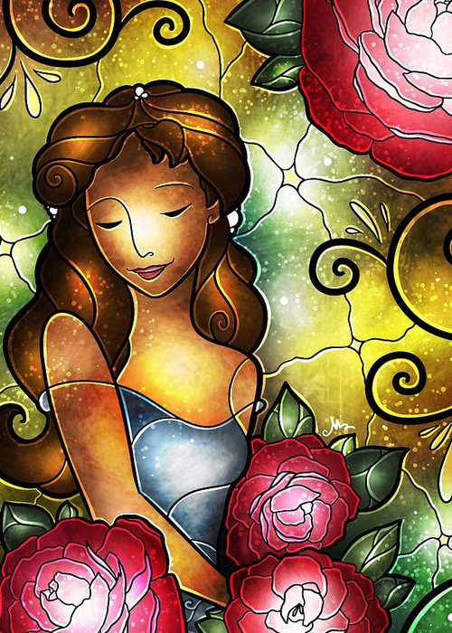 Camellia Flowers Greeting Card featuring the digital art Camellia Lady by Mandie Manzano