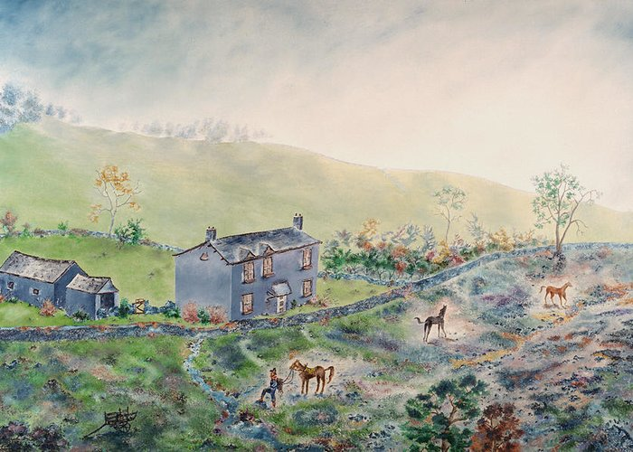 Horse Greeting Card featuring the painting Camelot by Richard Barham