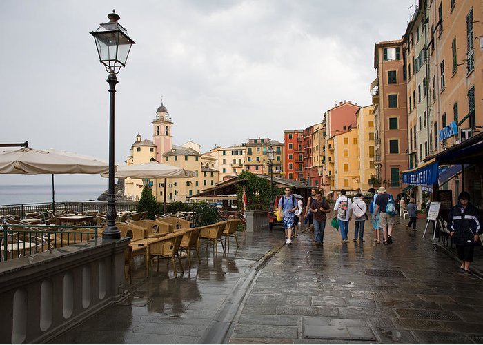 Italy Greeting Card featuring the photograph Camogli 3 by Luigi Barbano BARBANO LLC