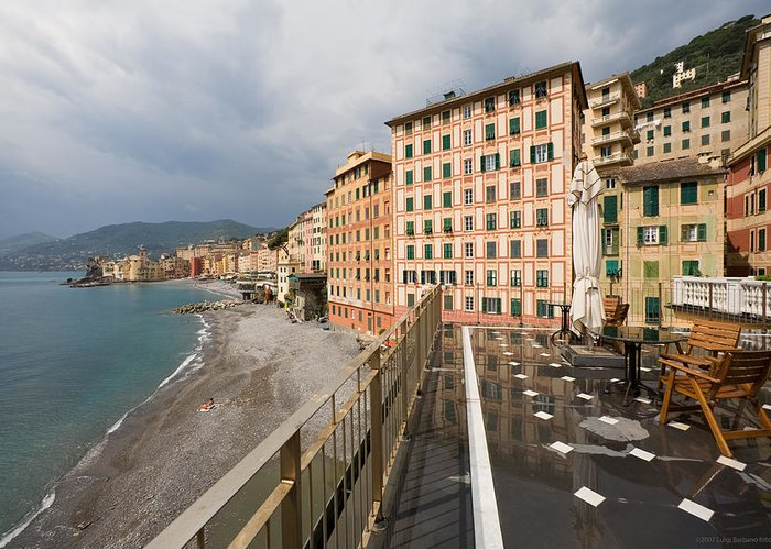 Italy Greeting Card featuring the photograph Camogli 4 by Luigi Barbano BARBANO LLC