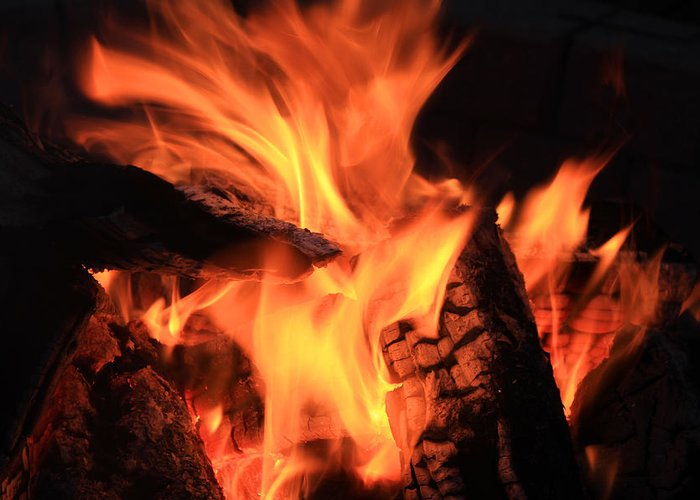 Fire Greeting Card featuring the photograph Campfire by Robert Hamm