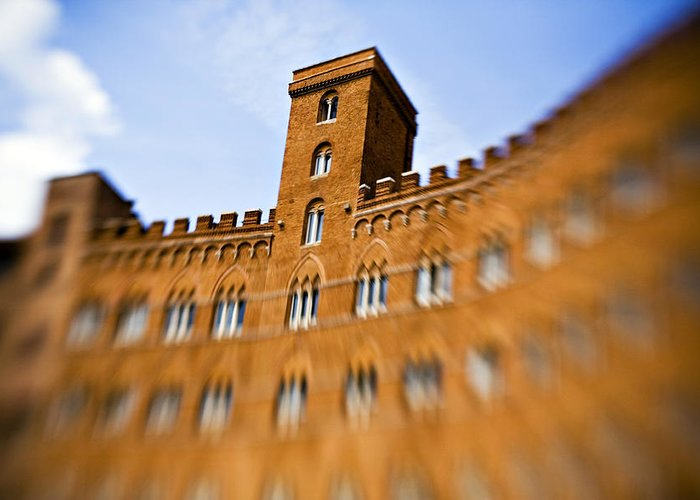 Piazza Del Campo Greeting Card featuring the photograph Campo Of Siena Tuscany Italy by Marilyn Hunt