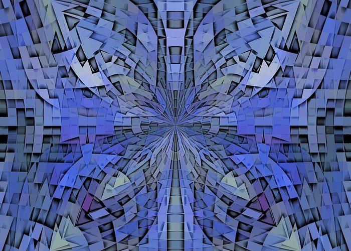 Abstract Greeting Card featuring the digital art Can You Hear Me Now by Tim Allen