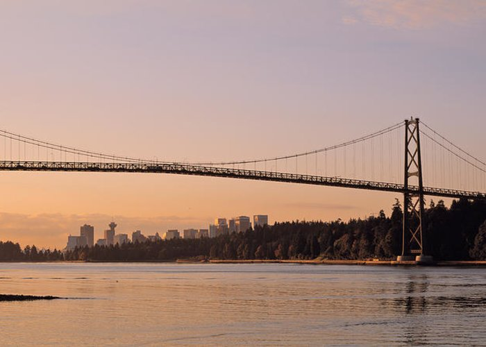 Lions Gate Bridge Greeting Cards