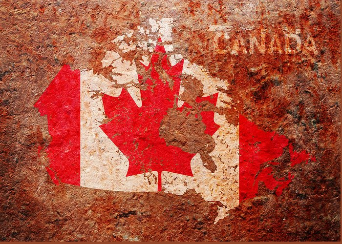 Canada Mixed Media Greeting Cards