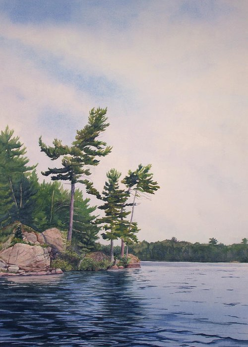 Canadian Shield Greeting Card featuring the painting Canadian Shield Sculpture No. 2 by Debbie Homewood