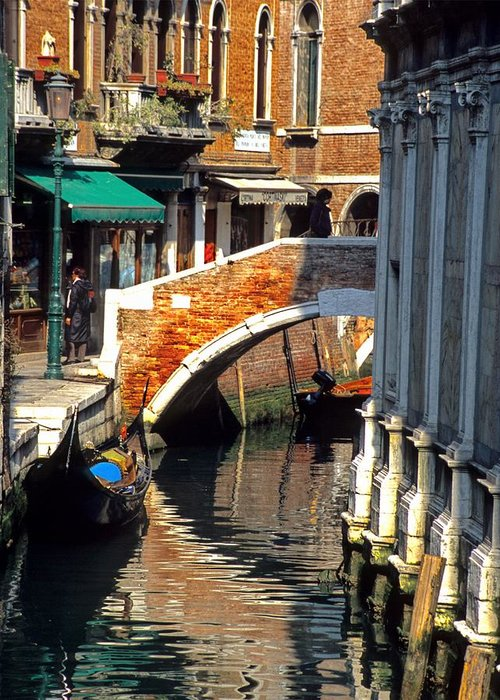 Greeting Card featuring the photograph Canal Next To Church Of The Miracoli In Venice for Vrooman by Michael Henderson