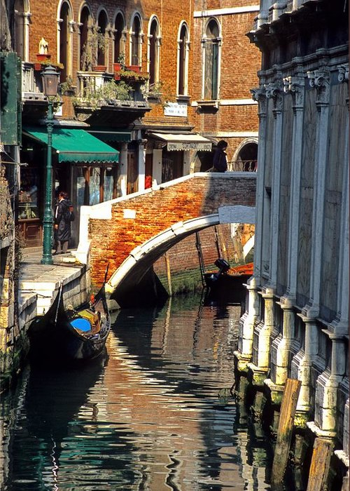 Venice Greeting Card featuring the photograph Canal Next To Church Of The Miracoli In Venice by Michael Henderson