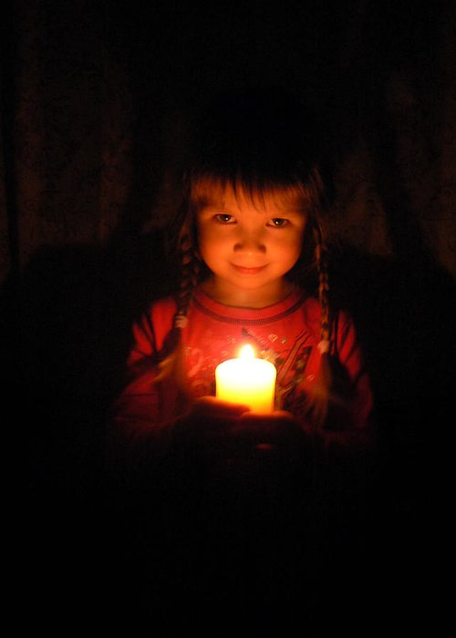 Candle Greeting Card featuring the photograph Candle by Anastasia Michaels