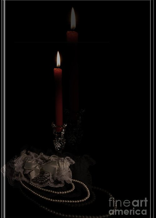 Candles Greeting Card featuring the photograph Candle Love by Robin Lynne Schwind