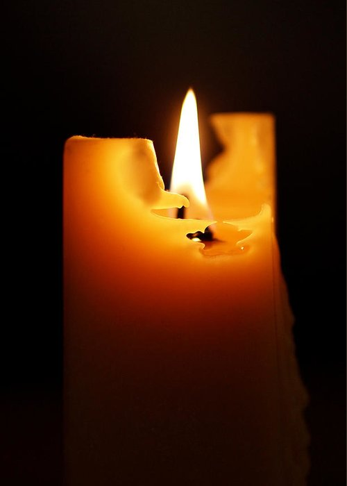 Candlelight Greeting Card featuring the photograph Candlelight by Rona Black