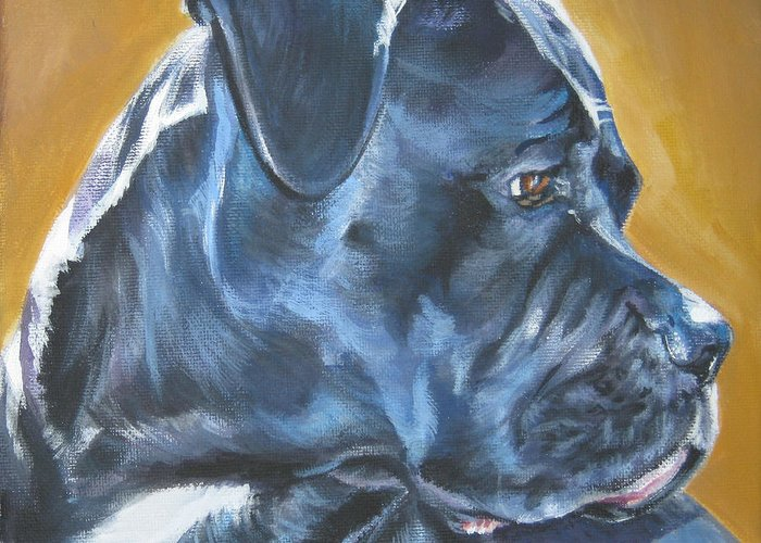 Cane Corso Greeting Card featuring the painting Cane Corso by Lee Ann Shepard