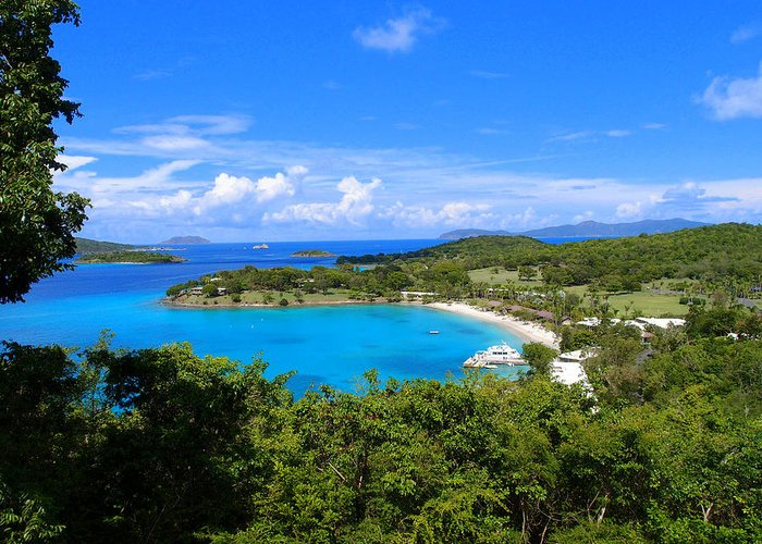 Greeting Card featuring the photograph Caneel Bay by Todd Hummel
