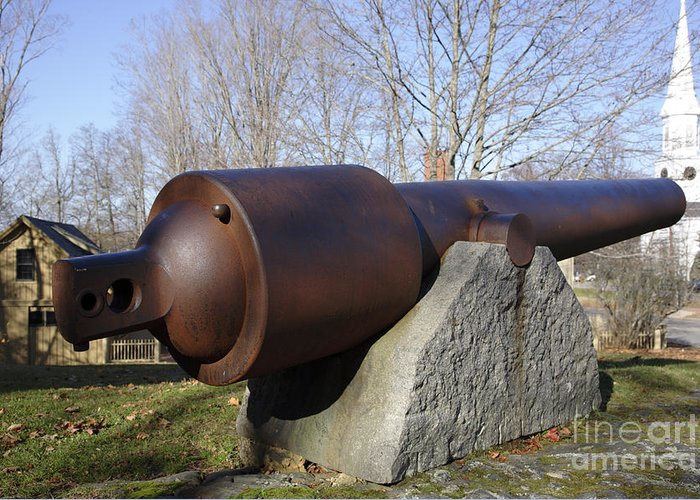 American Greeting Card featuring the photograph Cannon - York Maine Usa by Erin Paul Donovan