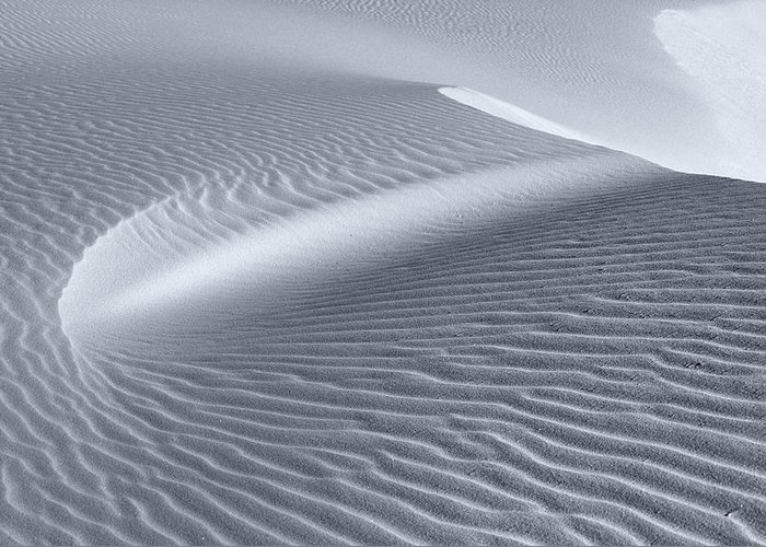 White Sands Greeting Card featuring the photograph Canvas Of The Winds by Sandra Bronstein