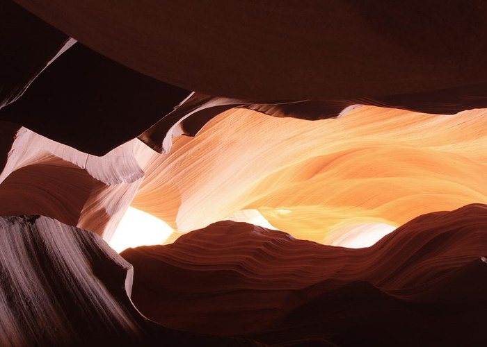 Greeting Card featuring the photograph Canyon-3 by John Pensis