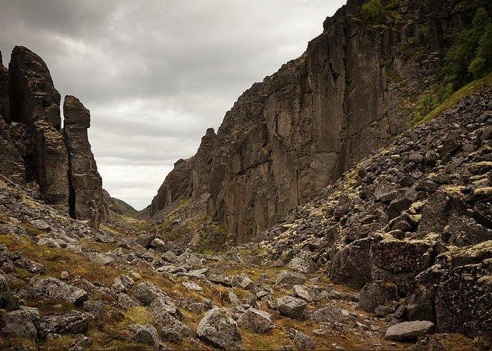 Mountain Art Greeting Card featuring the photograph Canyon Aku Aku by Konstantin Dikovsky