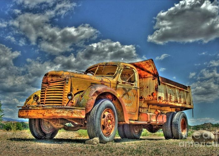 Dump Truck Photographs Greeting Cards