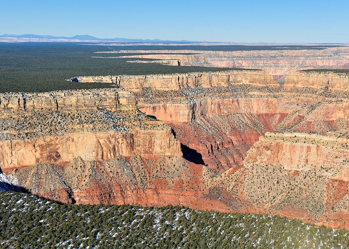Grand Greeting Card featuring the photograph Canyon Drop Off by Tom Dowd