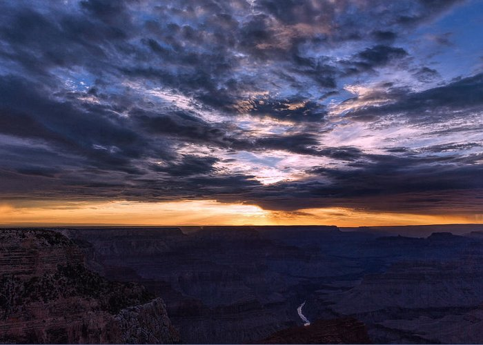 Landscape Greeting Card featuring the photograph Canyon Light Show by John M Bailey