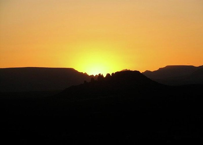Sunset Greeting Card featuring the photograph Canyon Sunset by Mary Ivy