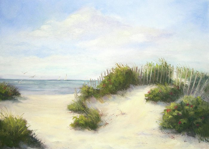Beach Greeting Card featuring the painting Cape Afternoon by Vikki Bouffard