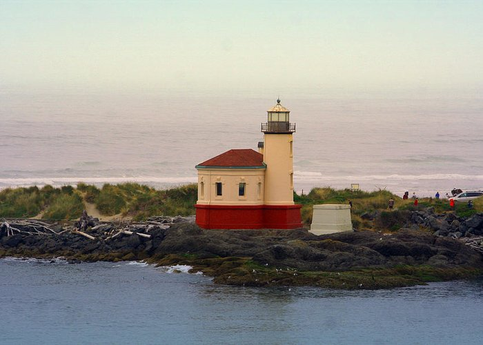 Lighthouses Greeting Card featuring the photograph Cape Blanco Lighthouse Li 8000 by Mary Gaines